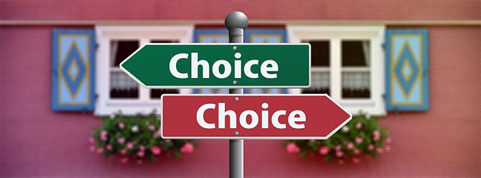 Choices Arrows Sign Image